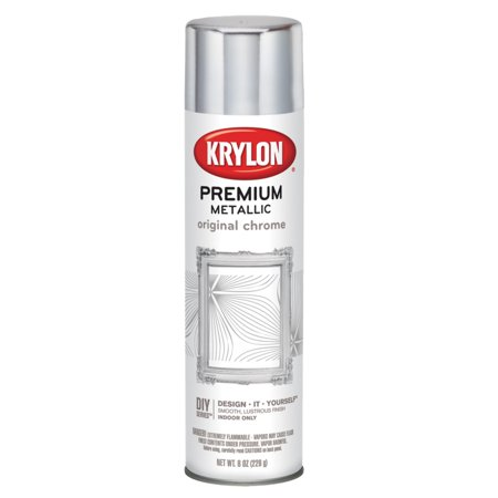 Krylon Metal Pens - Krylon Premium Metallic Coating Original Chrome Spray Paint, 8 Oz.