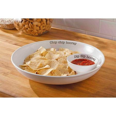 - Mud Pie Circa Chip N Dip Set, White
