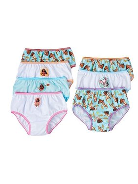 Disney Moana Girls Panties Underwear 7-Pack (4T)