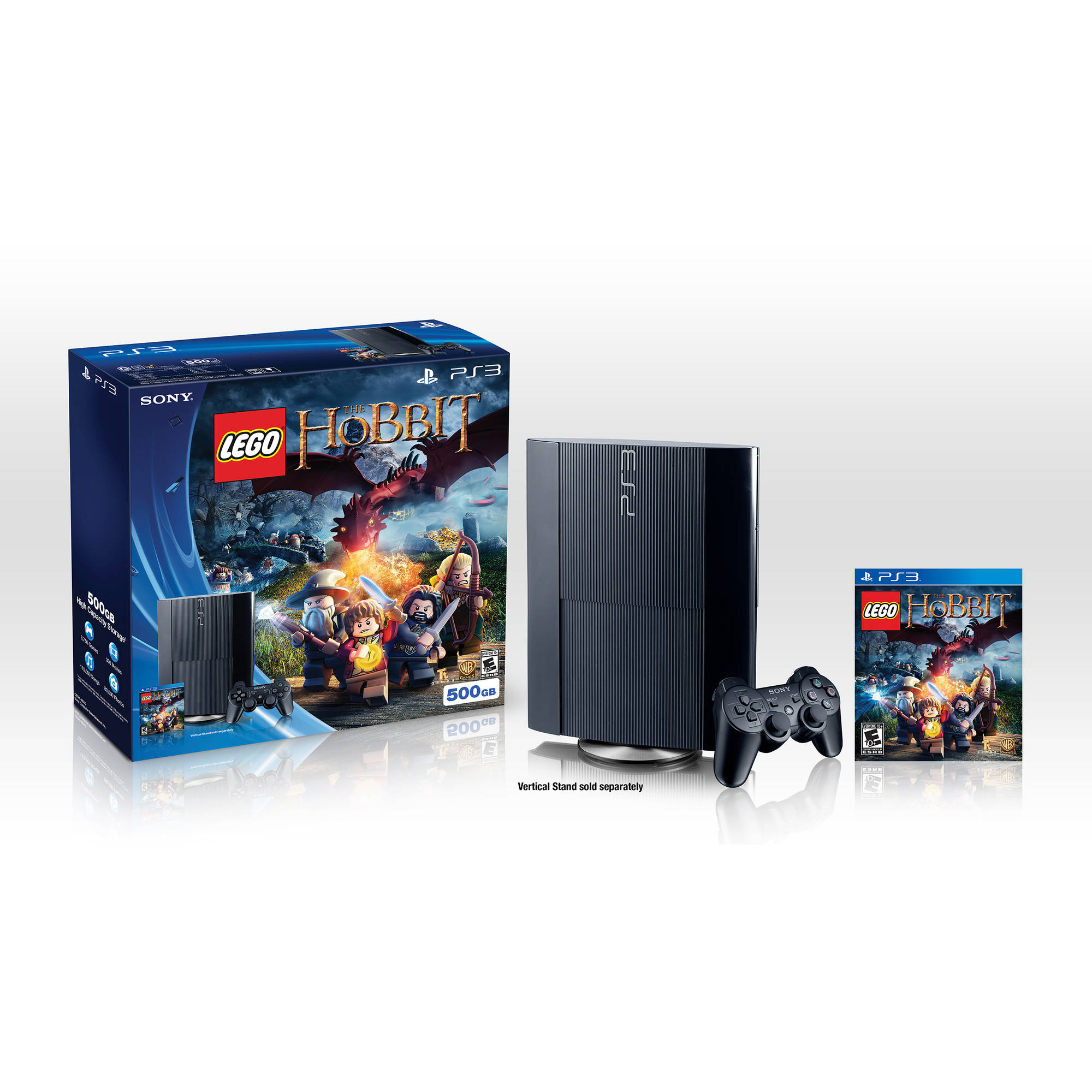 PS3 500GB Console with Lego The Hobbit Bundle