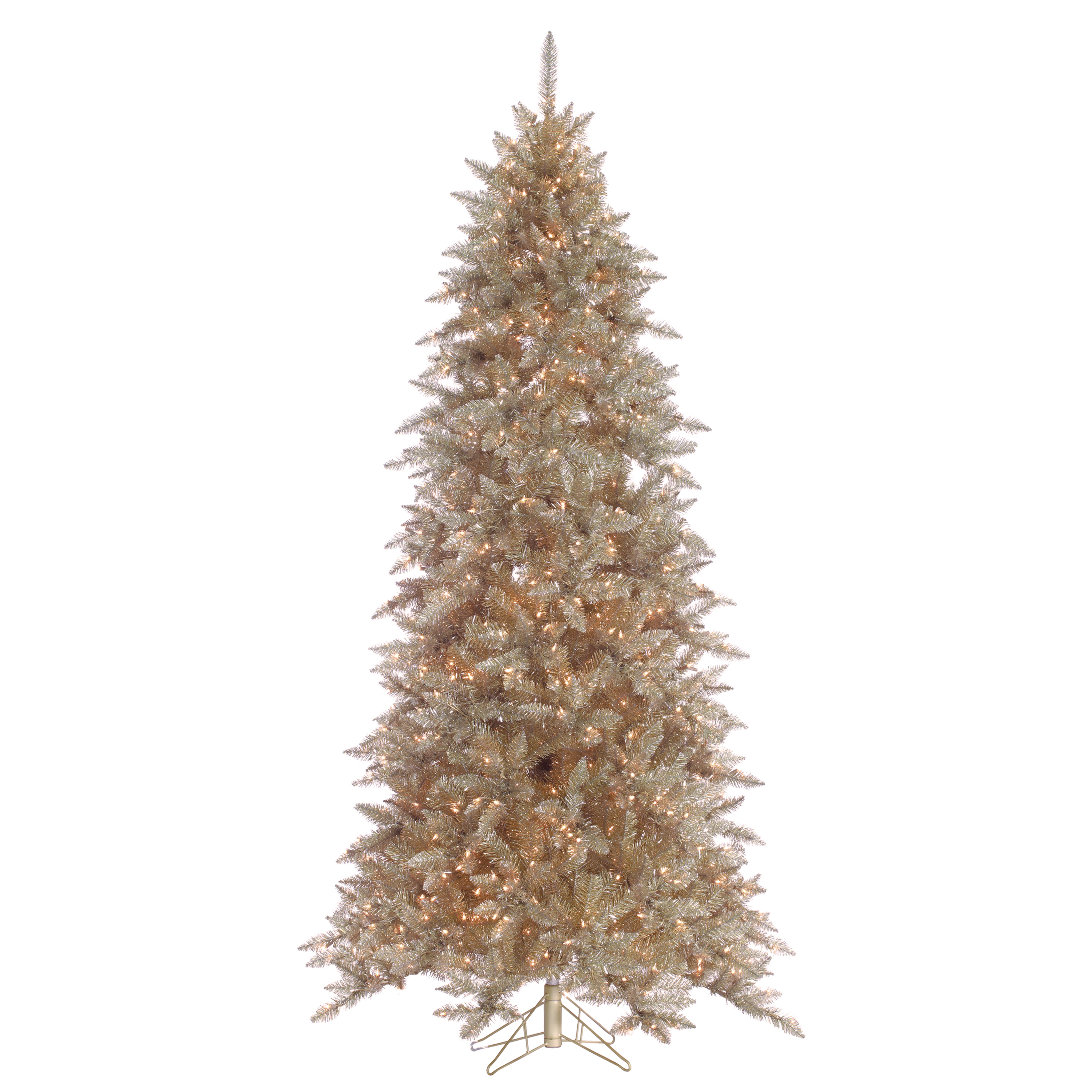 Gerson 7.5 Layered Platinum frasier Fir with 700 Clear Lights