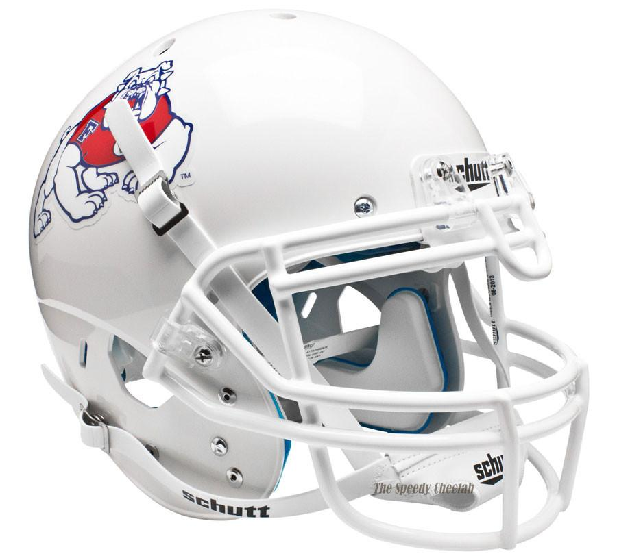 Schutt Authentic Fresno State Bulldogs White XP Football ...