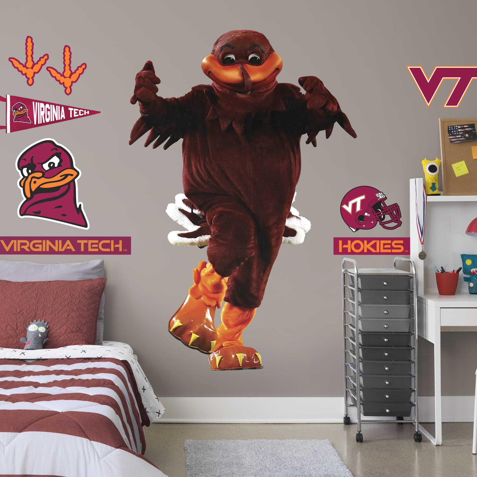Fathead Virginia Tech Hokies: Hokiebird Mascot - Life-Size Officially Licensed Removable Wall ...