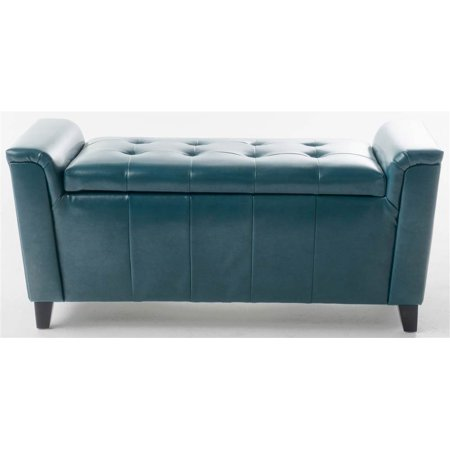 Storage Bench in Teal Bench Extra Thick Wood