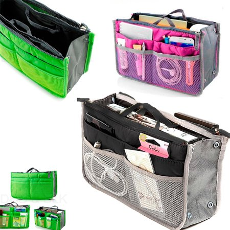 Bag Organizer Insert - ATB Women Pocket Large Travel Insert Handbag Tote Organizer Tidy Bag Purse Pouch New