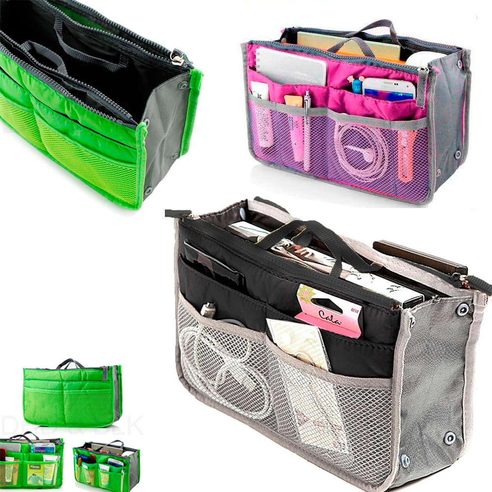 Women Pocket Large Travel Insert Handbag Tote Organizer Tidy Bag Purse Pouch New