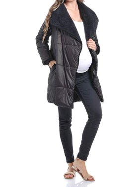 Beachcoco Women's Maternity Comfortable Zipper Light Weight Long Jacket