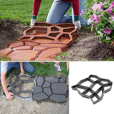 Walk Maker Reusable Concrete Path Maker Molds Stepping Stone Paver Lawn Patio Yard Garden DIY Walkway Pavement Paving Moulds