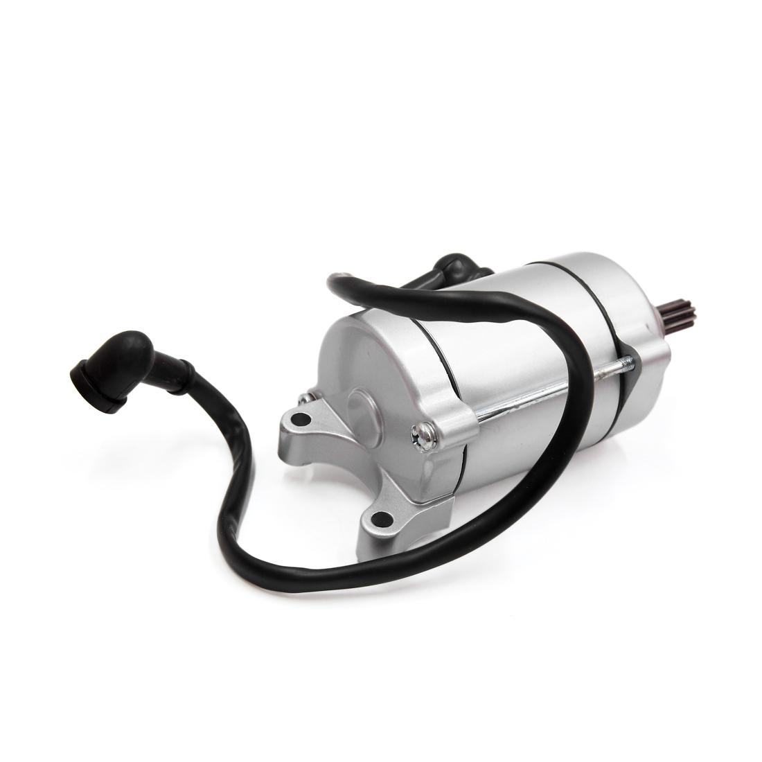 Silver Tone Metal Motorcycle Motorbike Engine Power Starter Motor for CG-125 - image 2 de 3