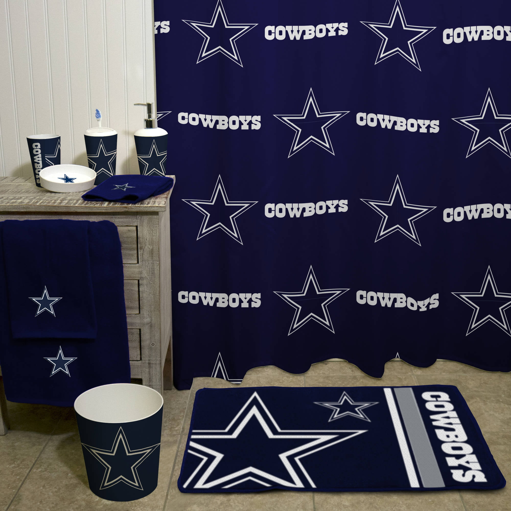 dallas cowboys bedroom decor.  NFL Dallas Cowboys Decorative Bath Collection Towel Walmart com