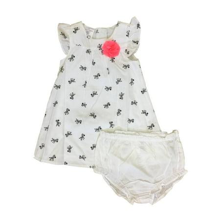 Infant Girls White & Black Zebra Print Sun Dress Baby Outfit](Zebra Outfit)