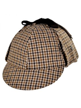 fa4d56a2ddb Product Image Sherlock Holmes Houndstooth Wool Blend Hat - XXL - Brown