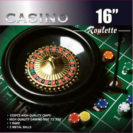Roulette Wheel Game Set with 120 Chips Ideal for Casino Party & House - Texas Tech Game Day Chip