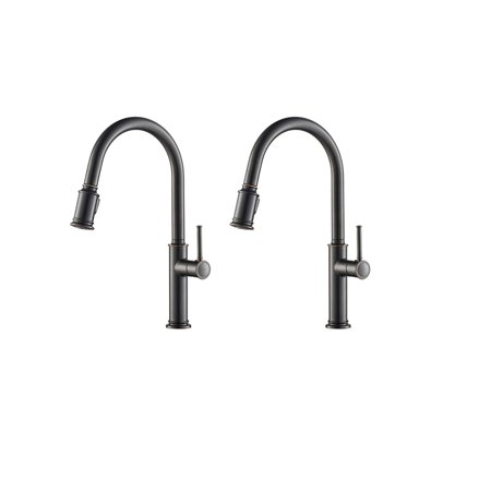 Kraus Sellette Single Pull Down Kitchen Sink Faucet Oil Rubbed Bronze 2 Pack