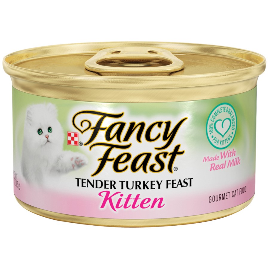 Purina Fancy Feast Kitten Tender Turkey Feast Wet Cat Food, 3.0 Oz. Cans (24 Pack)