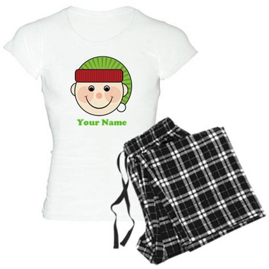 Cafepress Personalized Christmas Elf Women's Light Pajamas