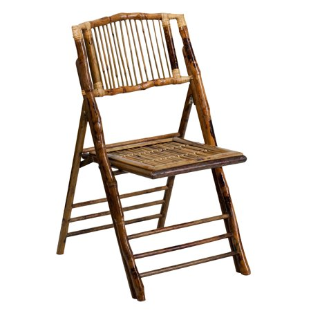 A Line Furniture Empire Deco-Style Bamboo Folding Chairs - 34.5