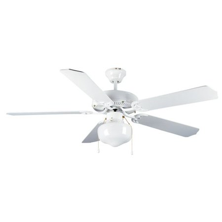 Mainstays 52 dual mount one light ceiling fan white walmart mainstays 52 dual mount one light ceiling fan white aloadofball Images