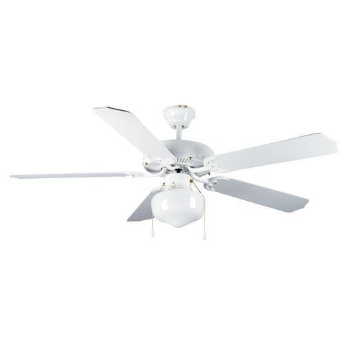 "Mainstays 52"" Dual Mount One Light Ceiling Fan, White"