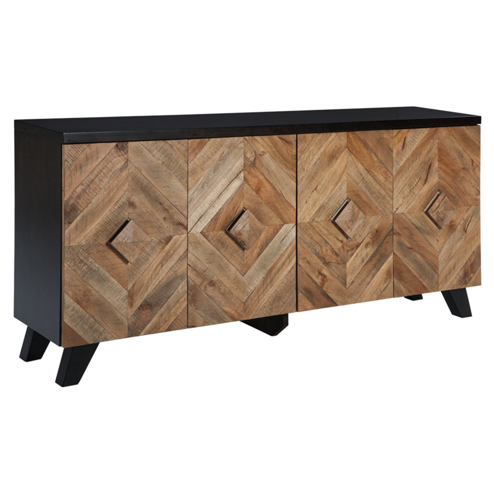 Signature Design by Ashley Robin Ridge 72 in. Four Door Accent Cabinet