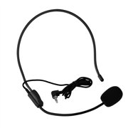 Mini 3.5mm Head-mounted Wired Microphone Condenser MIC for Voice Amplifier Speaker