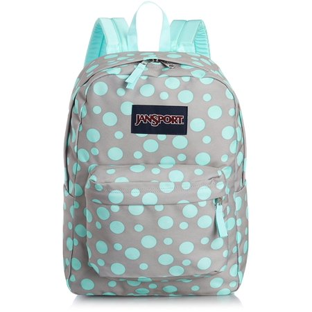 JanSport Superbreak Backpack - Grey Rabbit Sylvia Dot