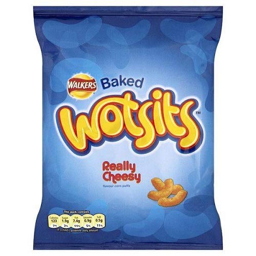 Walkers Cheese Wotsits 23g (Pack of 6) - Mini Halloween Cheese Balls