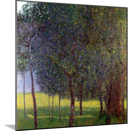 Fruit Trees, 1901 Botanical Landscapes Wood Mounted Print Wall Art By Gustav - Landscape Tree Mount