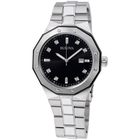Bulova Marine Star Diamond Accented Stainless Steel Men's Watch 98D103
