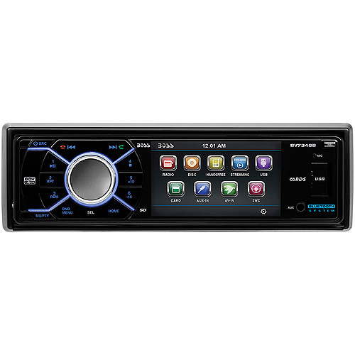 """Boss Audio BV7348B In-Dash Single-DIN DVD/CD/Bluetooth Receiver with 3.2"""" LCD Screen"""