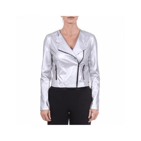 V 1969 Italia Womens Jacket SERENA Silver M - Silver Jacket
