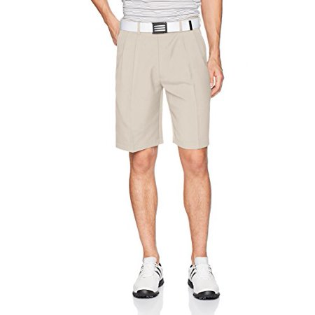 Pleated Golf - PGA TOUR Mens Golf Double Pleated Extender Solid Shorts