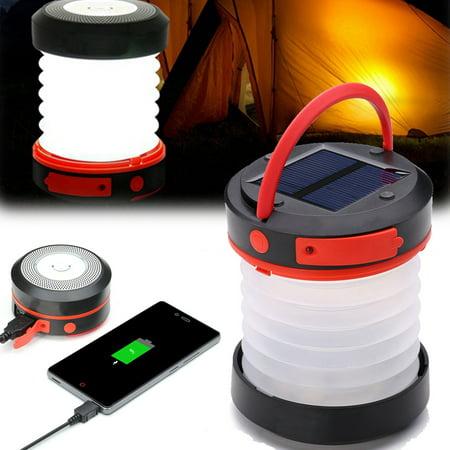 Indigi® Solar Powered Camping Lantern & Flashlight with USB Emergency Charge Port | 1800mAh Capacity | Collapsible Design | 2 Brightness Levels | SOS Flashing Mode - image 3 de 5