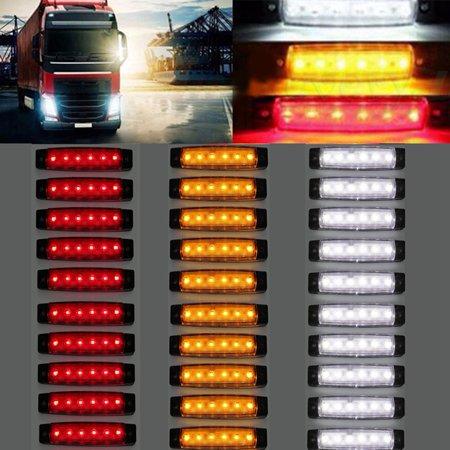 High Power 6 LED 12V Side Indicator Light Marker Lamp for Truck BUS Trailer 3