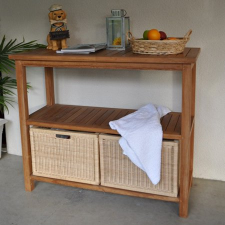 Anderson Teak Outdoor Towel Console Table