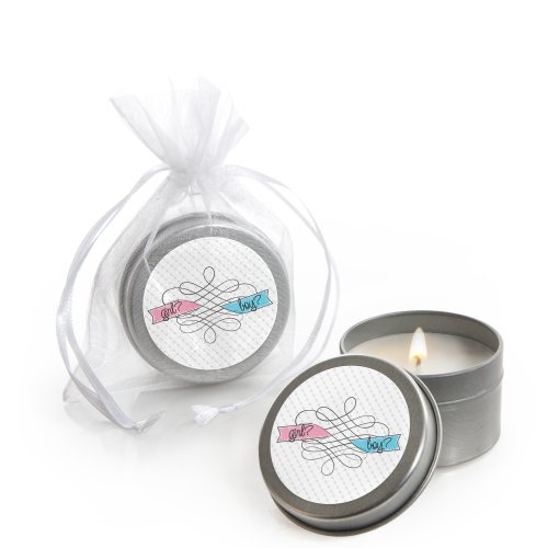 Gender Reveal - Candle Tin Party Favors (Set of 12)