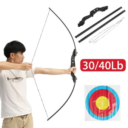 """51"""" Hunting Take Down Straight Bow Right Hand Draw Weight 30/40 lbs Traditional Archery Bow Hunting Shooting Outdoor thumbnail"""