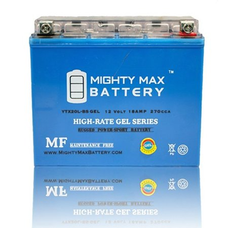 YTX20L-BS GEL 12V 18AH Power Sport Battery (Ytx20l Bs High Performance Power Sports Battery)