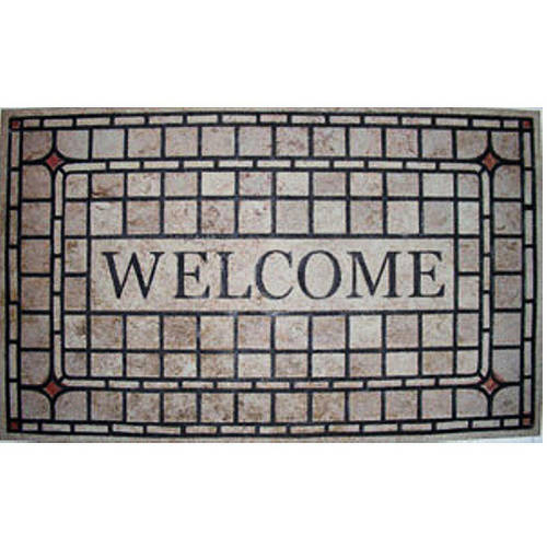 "18"" x 30"" Recycled Rubber Eldorado Light Doormat"