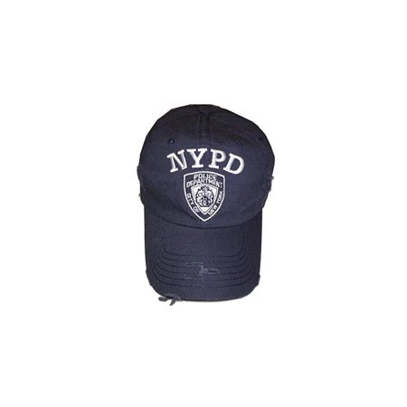NYC FACTORY NYPD Baseball Hat New York Police Department Distressed White  Logo Navy Blue - Walmart.com c867332576d0