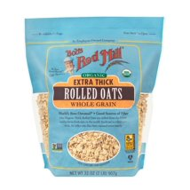 Oatmeal: Bob's Red Mill Extra Thick Rolled Oats Organic