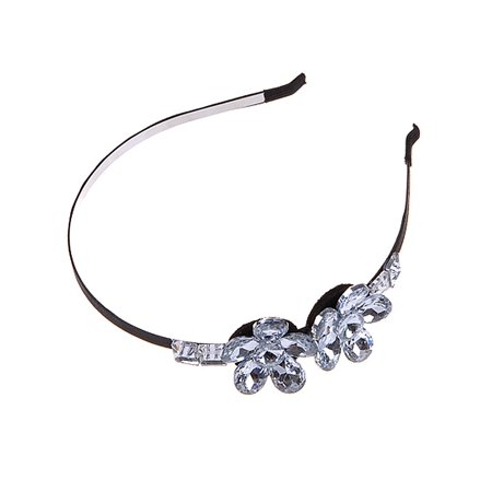 Handmade Crystal Clear Bead Ice Flower Daisy Petals Fancy Hair Piece Headband](Daddy Clips)