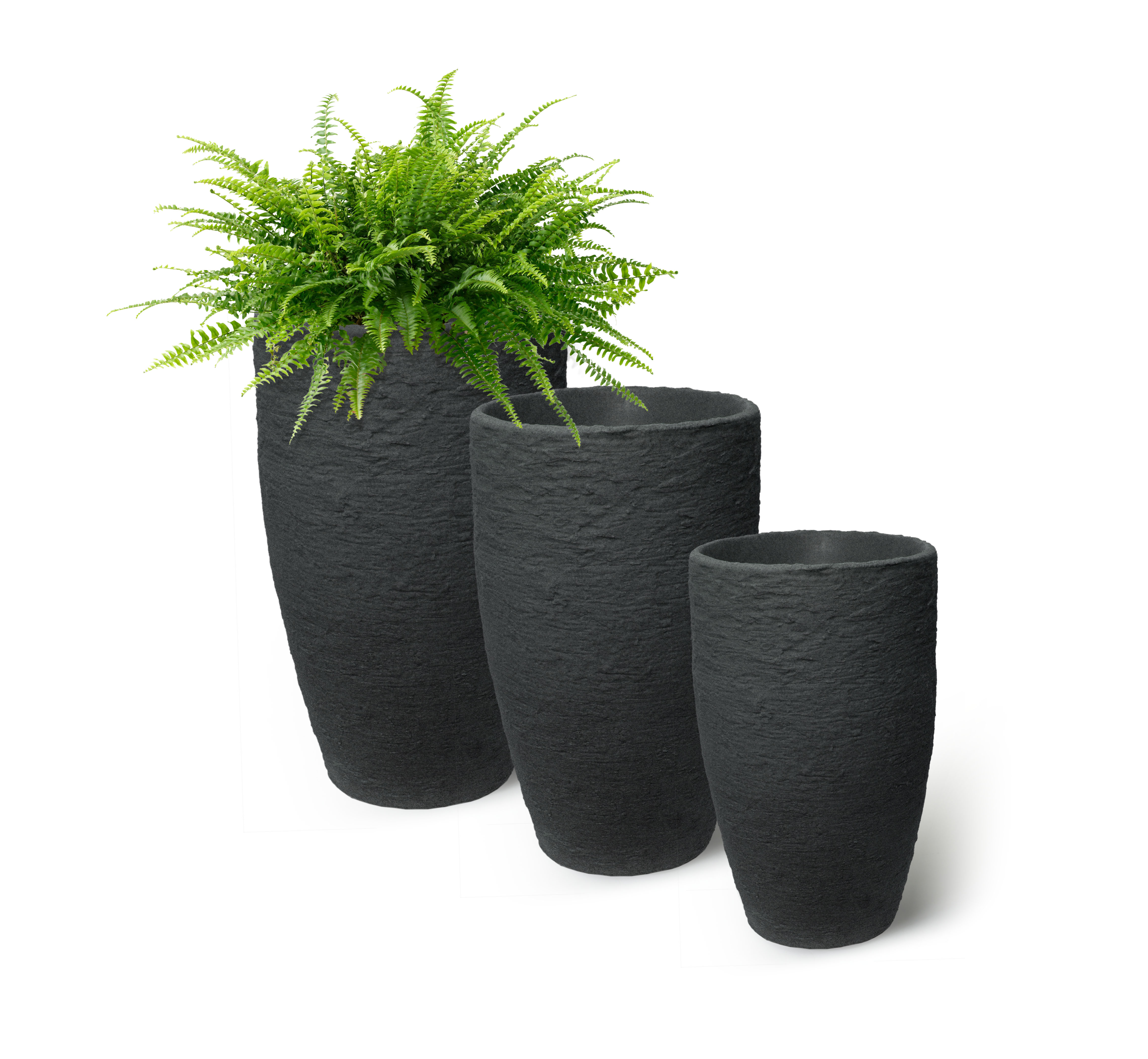 Algreen Athena Planter, 20-Inch Height by 12.6-In., Self-Watering Planter, Brownstone