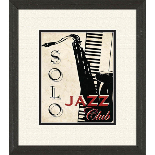 PTM Images Piano and Jazz Club B Framed Vintage Advertisement