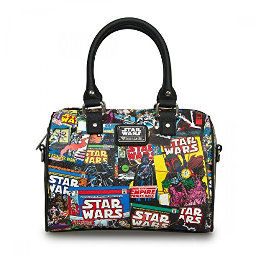 Loungefly Star Wars Comic Covers Duffle (Black/Multi)