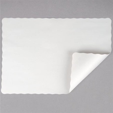 Laminated LP100 10 x 14 in. Colored Paper White Placemats - Case of 1000