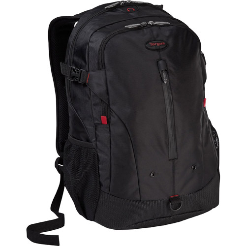 "Targus Terra Backpack for 16"" Laptops, Black with Red Accents"