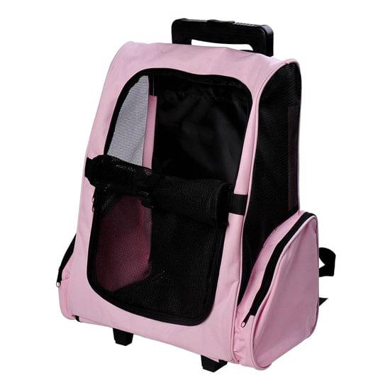 Aosom LLC Pawhut Pet Carrier Wheeled Dog Backpack - Walmart.com