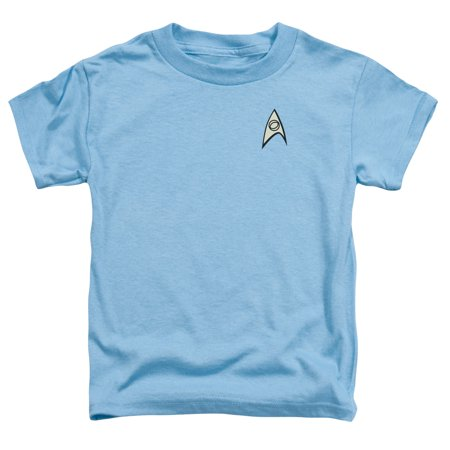 Star Trek Science Uniform Little Boys Toddler Shirt (Carolina Blue, 2T)