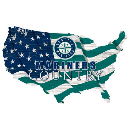 Seattle Mariners USA Flag Cutout Sign Seattle Mariners Neon Sign